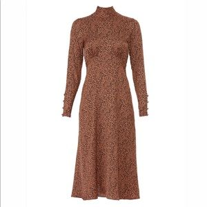 NWT Free People Loveless Printed Midi Dress